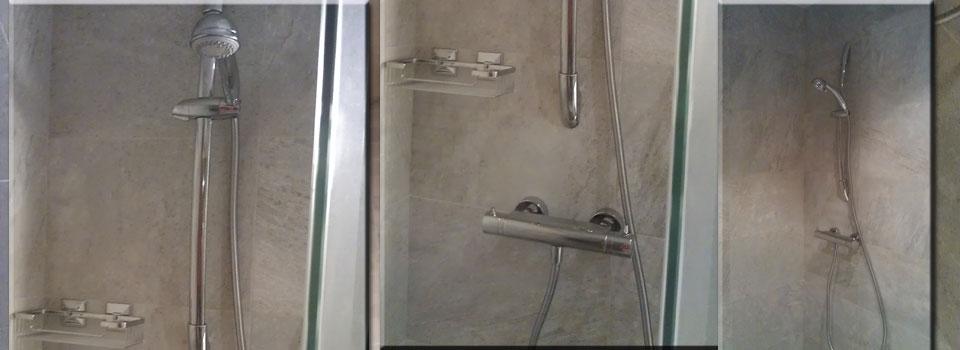 Extractor Baño Falso Techo:Reforma de baño con plato de ducha de obra – ax2 Reformas
