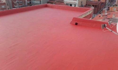 Impermeabilización de terrazas con caucho terracota