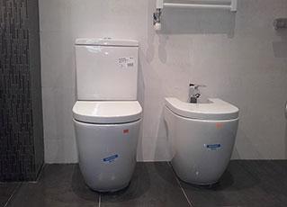 WC y bidé meridian N compacto