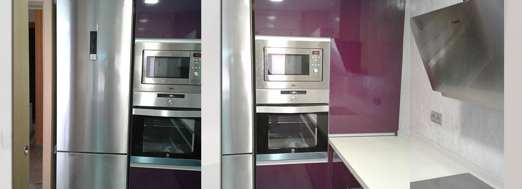 Mobiliario de cocina tipo columna para aprovechar al máximo nuestro espacio de almacenaje