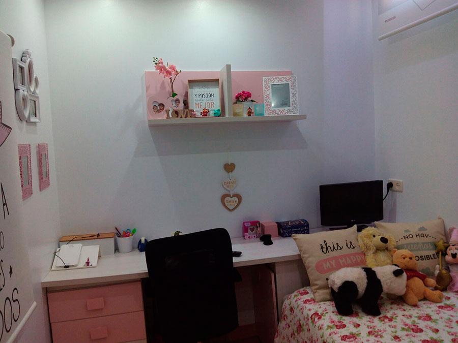 Reforma de habitación terminada  y decorada