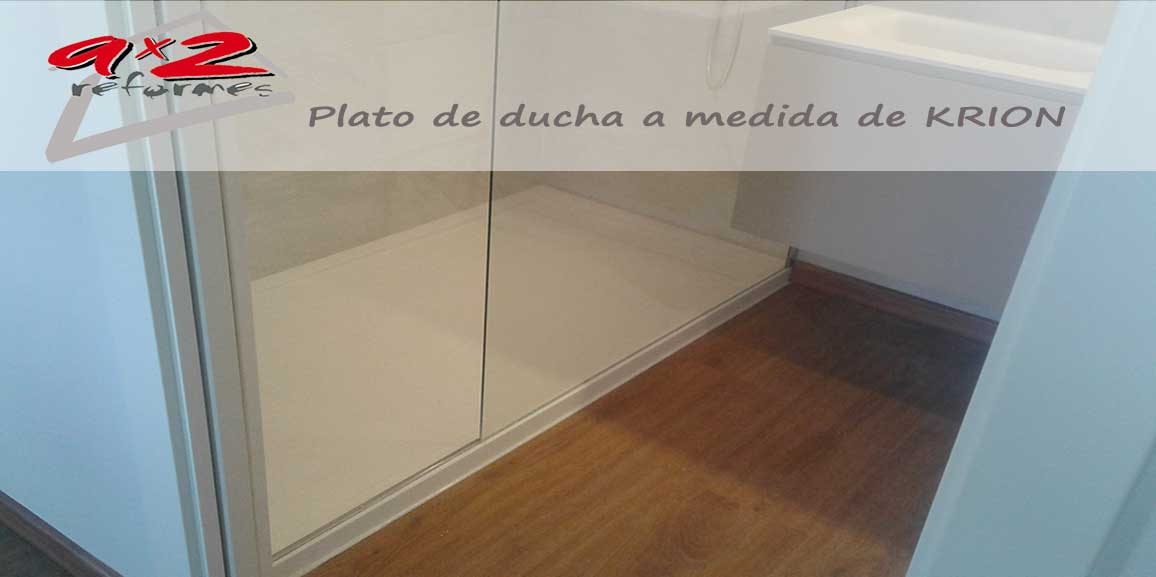 Plato de ducha a Medida, en Solid Surface KRION de Porcelanosa