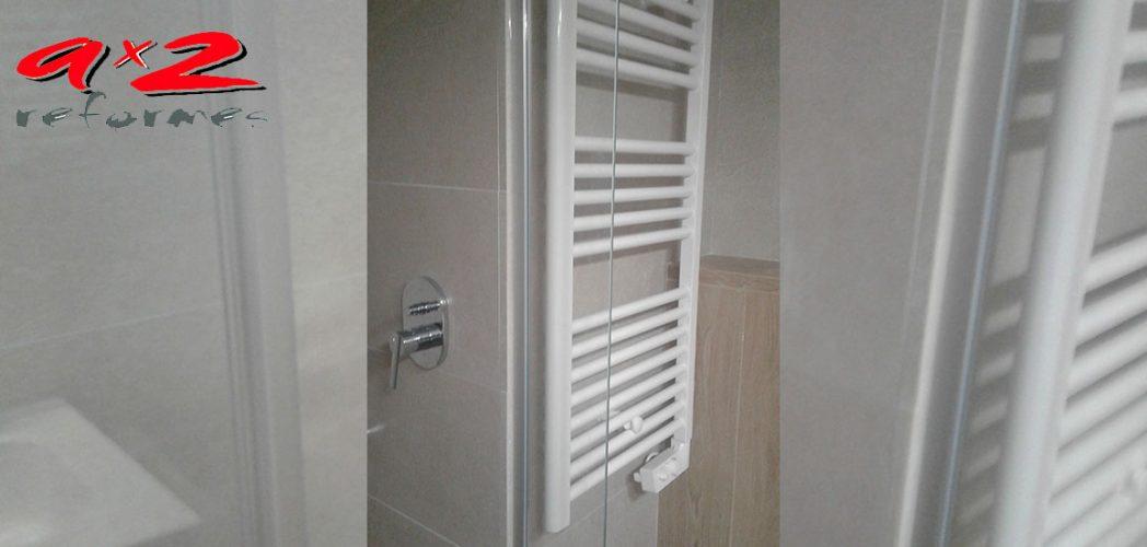 Confort para el baño, con un toallero eléctrico