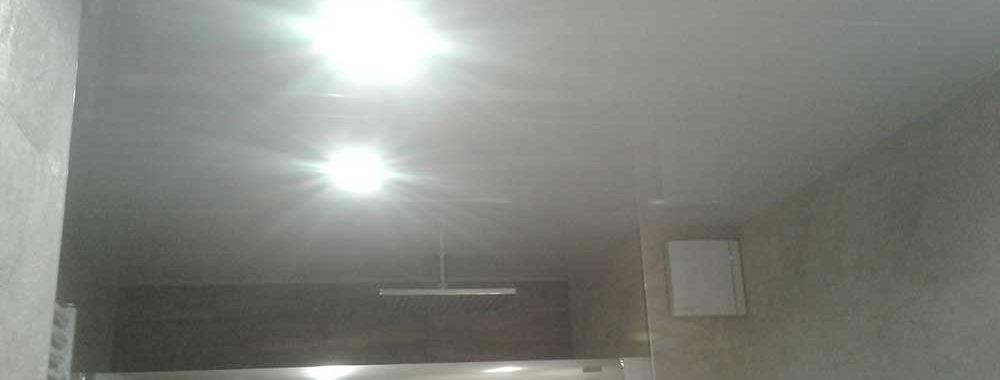 Techo de aluminio e iluminación led