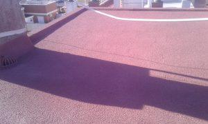 Impermeabilización de terraza con corcho proyectado