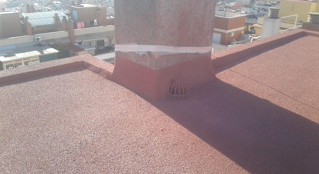 Terraza con corcho proyectado