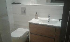 Wc suspendido y mueble de baño Geminis
