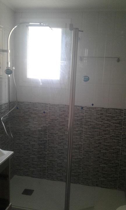 Cambio de bañera por ducha y mampara de cristal
