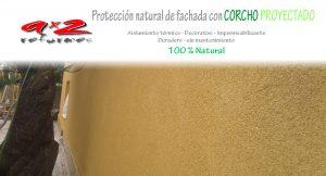 Aplicadores de Revestimiento natural en fachadas, terrazas y cubiertas Corcho proyectado