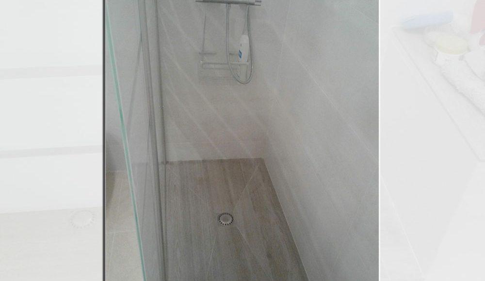 Plato de ducha de obra porcelanosa