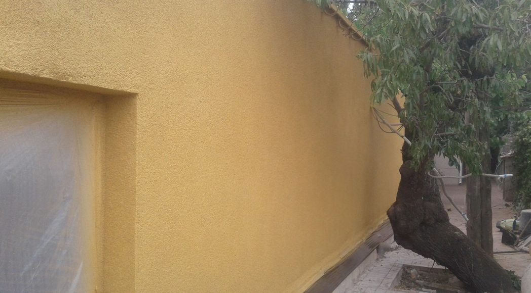 Reforma de fachada y aislamiento con corcho proyectado
