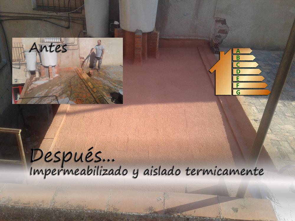 Impermeabilización y aislamiento terraza en viladecans