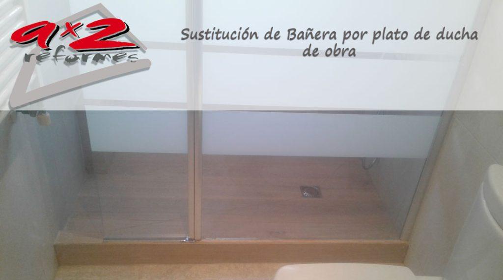 Sustitución de bañera por plato de ducha de obra a medida