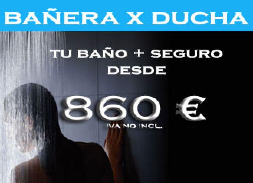 Cambiar bañera por ducha desde 860 €