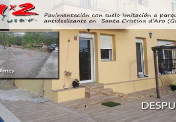 Reformar terraza: Reforma de terraza y contorno piscina en Santa Cristina d'Aro (Girona)