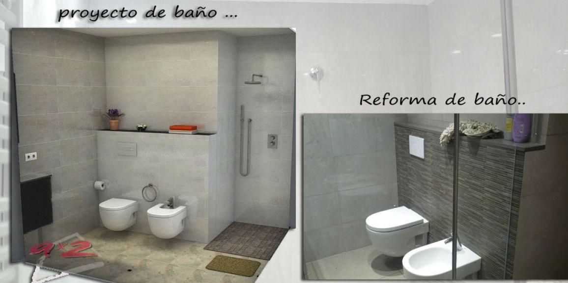 Reforma de baño con sanitarios suspendidos en viladecans