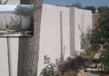 Corcho proyectado – Reparación humedades muro exterior