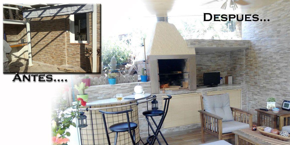 Decoración y reforma de porche y terrazas