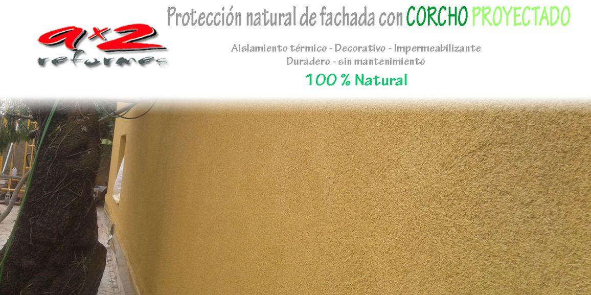 Revestimiento de fachada con corcho proyectado 100 % Natural