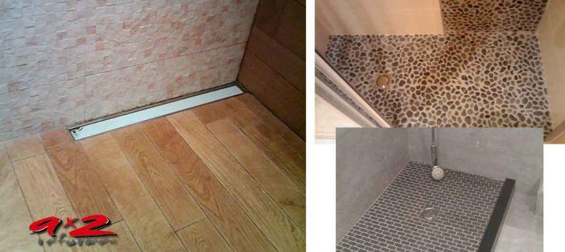 ¿Platos de ducha de obra?