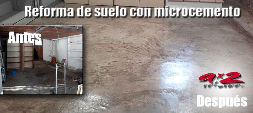 Reforma suelo de microcemento