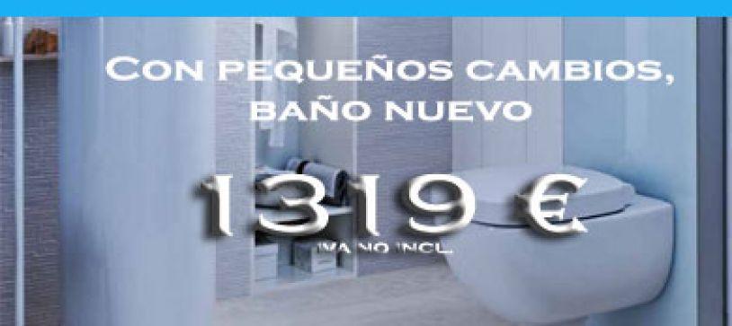Reforma tu baño sin obras desde 1..319 €