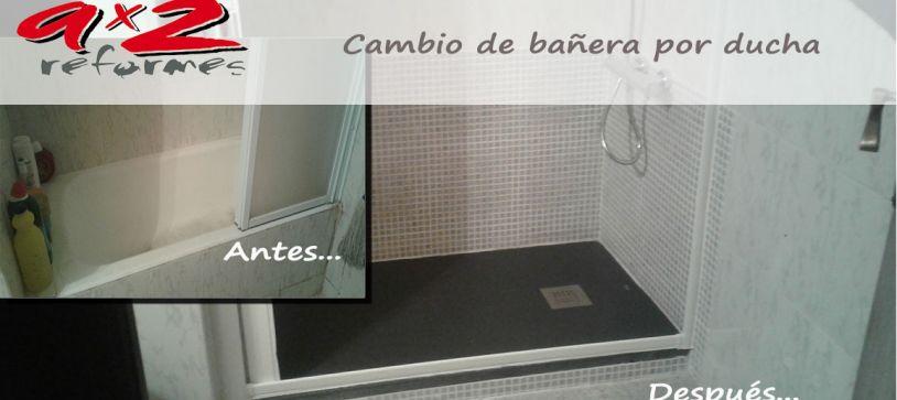Cambio de bañera por ducha en cubelles