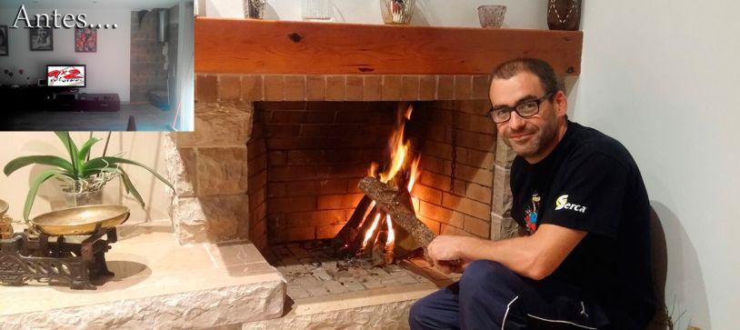 Construcción de fuego a tierra en Santa Cristina D'Aro