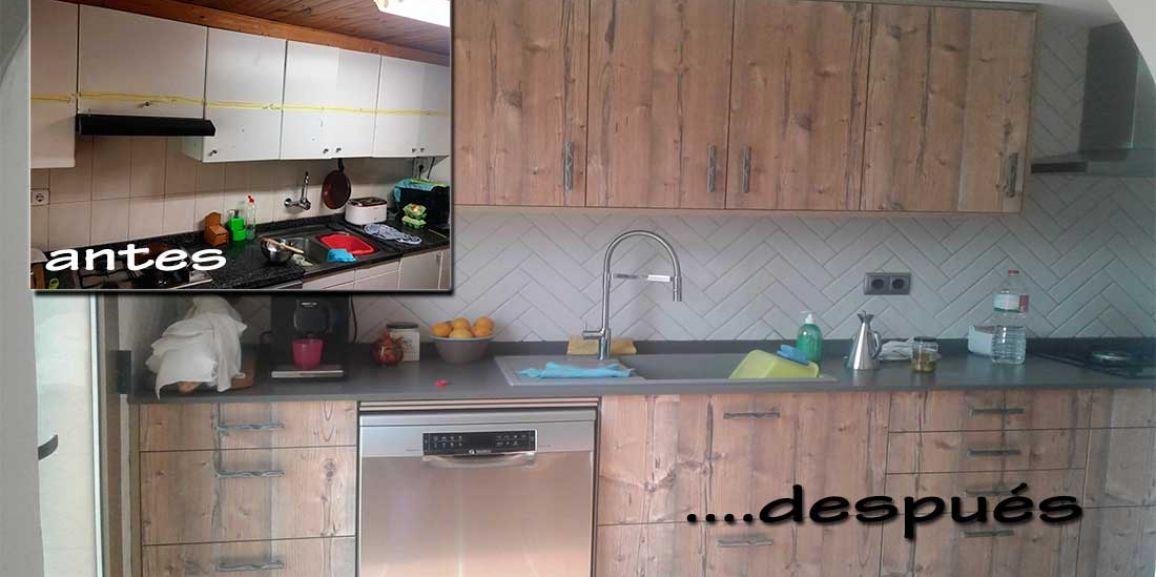 Reforma de cocina Rústica en Santa Oliva