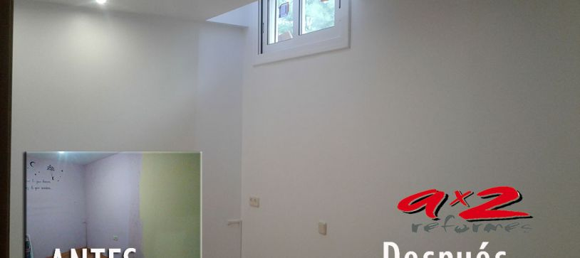 Reforma de habitación. Apertura de ventana en habitación interior